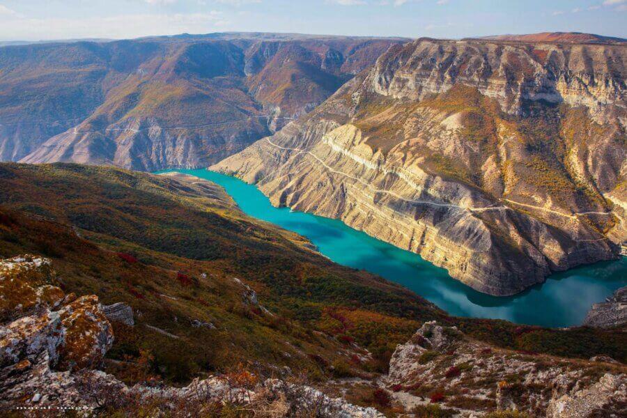 Сулакский каньон с вершины
